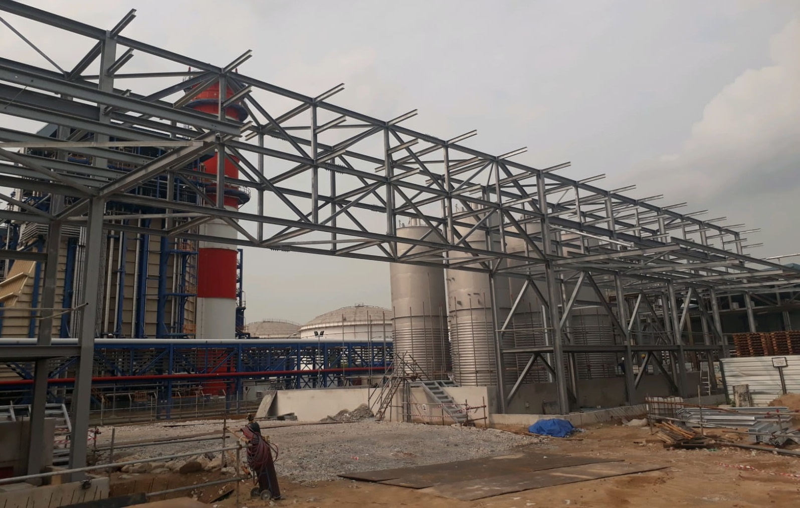 Pipe Rack for Industrial Plant Expansion Project